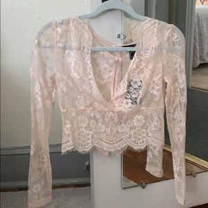 Lace FOREVER21 long sleeve top